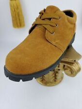 Lands' End Boys Shoes Size 6.5 B Lace up Oxford Style Suede Brown