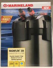 MarineLand Magniflow 220 Canister Filter 3 Stage Filtration Fresh&Salt Water New