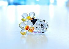 Swarovski Ladybug on Flower Good Luck Colorful Orange 842804 Brand New In Box