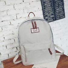Womens Mens Bag Backpack Canvas Rucksack Travel Satchel School Shoulder Pack Grey