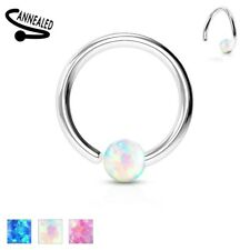 FIXED Opal Ball Captive Bead Rings NOSE LIP EAR Rook Daith Tragus Helix Jewelry