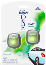 Febreze One Auto vent clips, Bamboo scent, Car air freshener