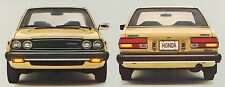 1980 Honda ACCORD Brochure with Specifications: LX, Hatchback, Sedan