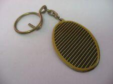Keychain: Gold & Black Stripes