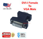 DVI-I Female Analog (24+5) to VGA Male (15-pin) Connector Adapter Desktop PC USA