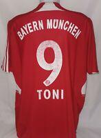 Adidas FC Bayern München Munich Trikot Gr. L 9 Toni Saison 2007 - 2009