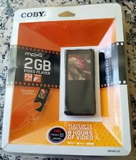 "COBY MP4 2GB Video Player FM Tuner 1.8"" Full Color TFT NEW In Package WMA MTV"