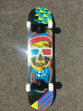 "SPEED DEMONS - PRE BUILT COMPLETE SKATEBOARD 7.5"""" INCH - MIX SKULL NEW"