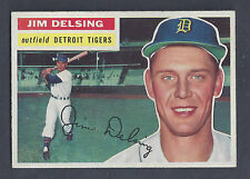1956 Topps #338 Jim Delsing Detroit Tigers NM Plus