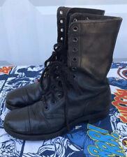 Vintage 60s Vietnam Black Tuftex Black Leather Combat Army Boots Size 8.5 R