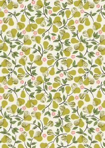 Lewis & Irene THE ORCHARD PEARS - Cream -  Fabric 100% COTTON  per 1/4 metre