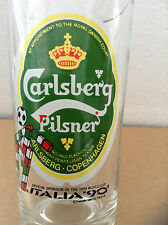 VINTAGE CARLSBERG BEER GLASS ITALIA 1990 FIFA World Cup Limited Edition Malaysia