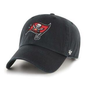 Tampa Bay Buccaneers '47 Black Clean Up Cotton Adjustable On Field Hat Cap