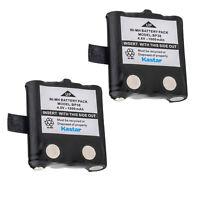 Kastar 2Pcs 2 Way Radio Battery 1000mAh 4.8V For Uniden BP-38 BP38 BP-40 GMR FRS