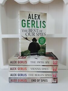 Collection of 5 x Paperback Books Spy Thrillers Alex Gerlis - Best of Spies NEW