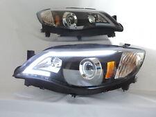 LED Projector Headlights Black For Subaru 2008-2014 Impreza WRX Outback Sport