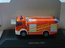 Herpa Mercedes-Benz Axor TLF Feuerwehr 112 Interschutz 2005 PC Sondermodell