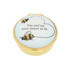 New Halcyon Days 2018 Bee Enamel Box #Enbee0501G Brand New In Box F/Sh Save$