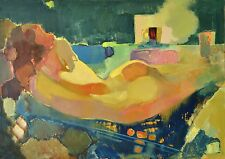 Nude figure Original artwork Author`s style oil painting by E. Lozovoy
