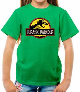 Jurassic Parkour Kids T-Shirt - Free Running - Sport - Fitness - Run - Exercise