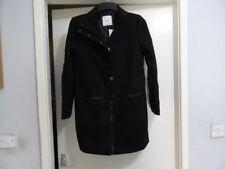 Mango Suit Structured Verieta Zip Up Wool/Leather Coat Size UK S RRP-£109.99