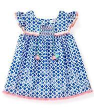 Matilda Jane HULA HOOP Top 14 Girl's Woven Boho Blue Tunic Adventure Begins NWT