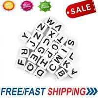 300X Acrylic Alphabet Letter Cube Pony Beads 6*6*6mm DIY Bracelet Kit Accessory