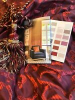 "Cosy Christmas Red Interlined Silk Curtains 116"" d x 160"" w"