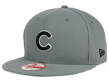 Custom New Era 9FIFTY Chicago Cubs Gray/Black/White Snapback Authentic NWT