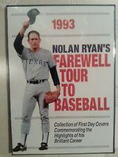 Nolan Ryan 1993 Autographed Farewell Tour to Baseball with Stamps, and COA