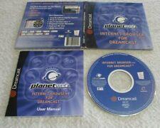 SEGA DREAMCAST PLANETWEB INTERNET BROWSER V 3.0 RARE COMPLETE 2001