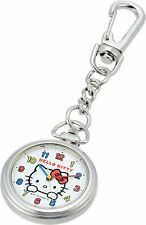 Citizen Q&Q Pocket Watch Hello Kitty Waterproof Clip HK27-204 White From Japan