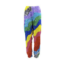 Mira Mikati NWT Rainbow Wave Sequin Jogger Pants SZ 40