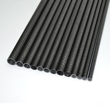 Carbon Fiber Tube OD 12mm* ID 8mm *1000mm 3K Roll Glossy Surface US warehouse1PC