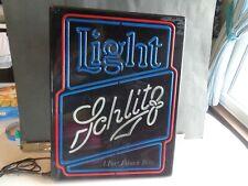 Vintage Rare Schlitz Lite Beer Lighted Beer Sign A Fine Pilsner Beer