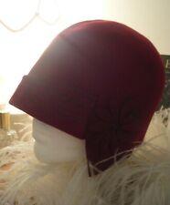 Vintage 1920s Cloche Hat Red Flapper Original Antique