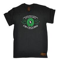 Listening In My Head Im Cycling T-SHIRT Cyclist Bike Biking birthday funny gift