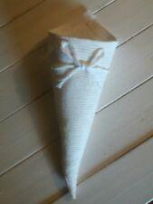 10 coni per riso o porta confetti, di iuta , bianco, per matrimonio