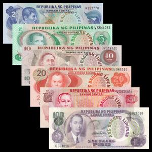 Philippines Set 6 PCS, 2,5,10,20,50,100 Pesos, UNC-