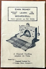 Earn While You Learn To Make Wearwell, Fancy Leather and Felt Goods Vintage book