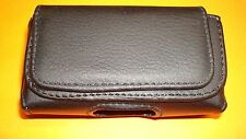 Leather Pouch Case W/Belt Clip for GreatCall JITTERBUG 5 / PLUS + Senior Phone