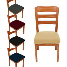 Home Dining Chair Seat Covers Soft Removable Elastic Stretch Cushion Slipcovers