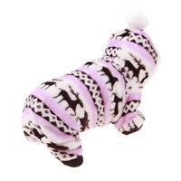 Soft Coral Fleece Hoodie Cardigan Coat Clothes Dog Pet Warm Winter Costume Nice