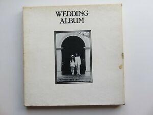 JOHN LENNON YOKO ONO ORIGINAL 1969 UK WEDDING ALBUM BOX COMPLETE