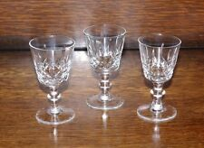3 Sherry Cordial Liqueur Port Glasses Cavan Irish Cut Crystal Innisfree Vintage
