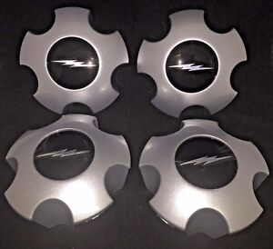 1997-2004 FORD F-150 F150 LIGHTNING Wheel Center Hub Cap SET SILVER