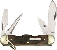 Rough Rider RR533 Camp Folding Knife Amber Jigged Bone Handle Folder