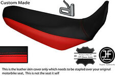 BLACK & RED CUSTOM FITS YAMAHA XT 660 R 04-17 DUAL LEATHER SEAT COVER