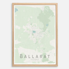BALLARAT Map Print, Australia Wall Art Poster City Map Wall Decor A3 A2 A1