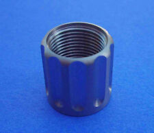 """9/16""""-24tpi STAINLESS  HUGHES 5/8"""" LONG  Fluted Thread Protector for barrels"""